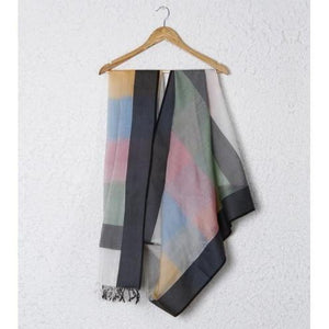 Multicoloured Cotton Silk Dupatta - rangoutlet.com