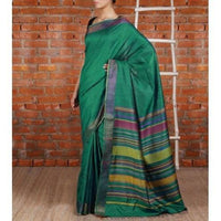 Blue Tussar Silk Saree - rang