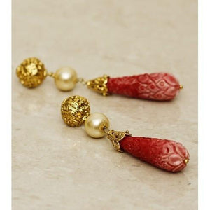 Gold Plated Dangler Earrings - rangoutlet.com