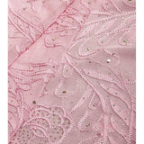 Pink Georgette Saree with Chikankari (100000035317) - rang