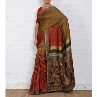 Dull Green Silk Saree - rangoutlet.com