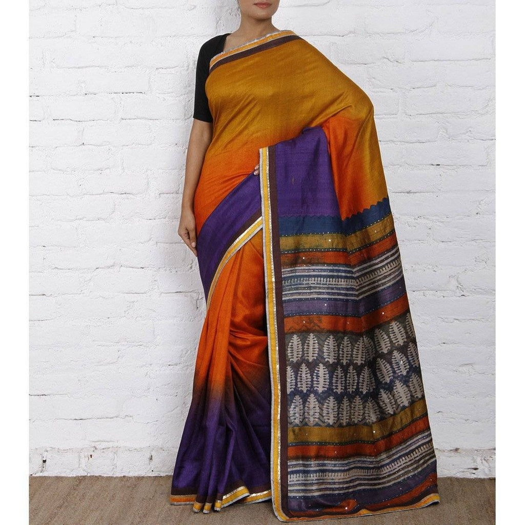 Yellow Silk Saree - rangoutlet.com