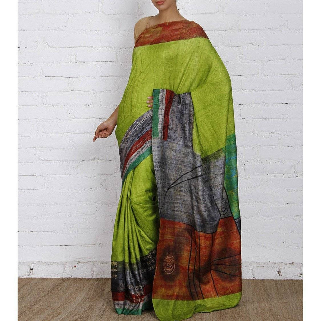Green Silk Saree - rangoutlet.com