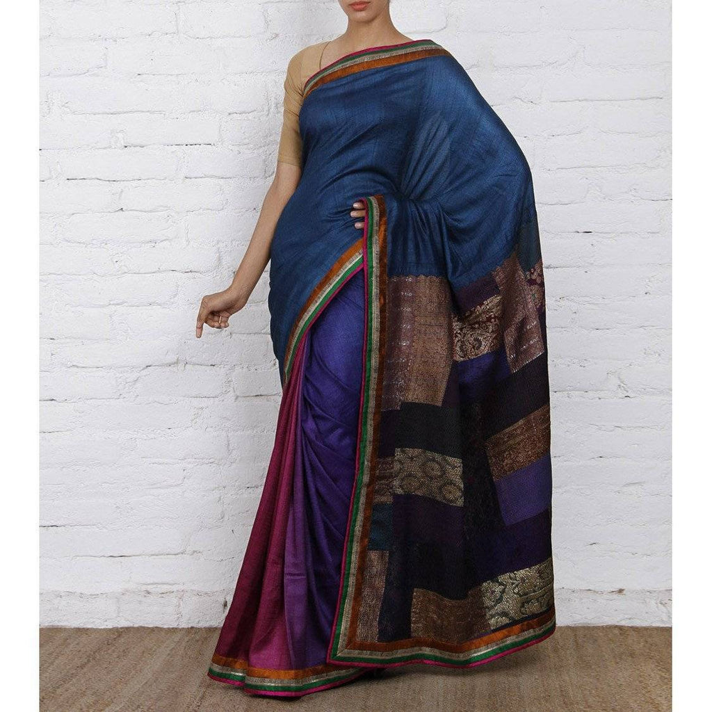 Multicoloured Silk Sarees - rangoutlet.com