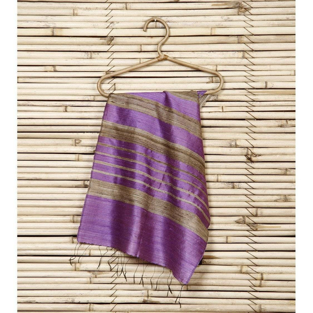 Light Purple Silk Duppatta - rangoutlet.com