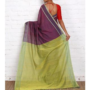 Purple Mangalgiri Cotton Sarees - rangoutlet.com