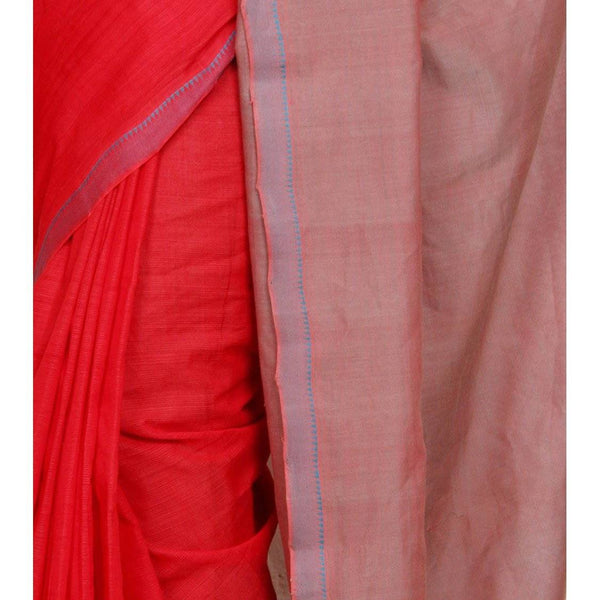 Red Mangalgiri Cotton Saree