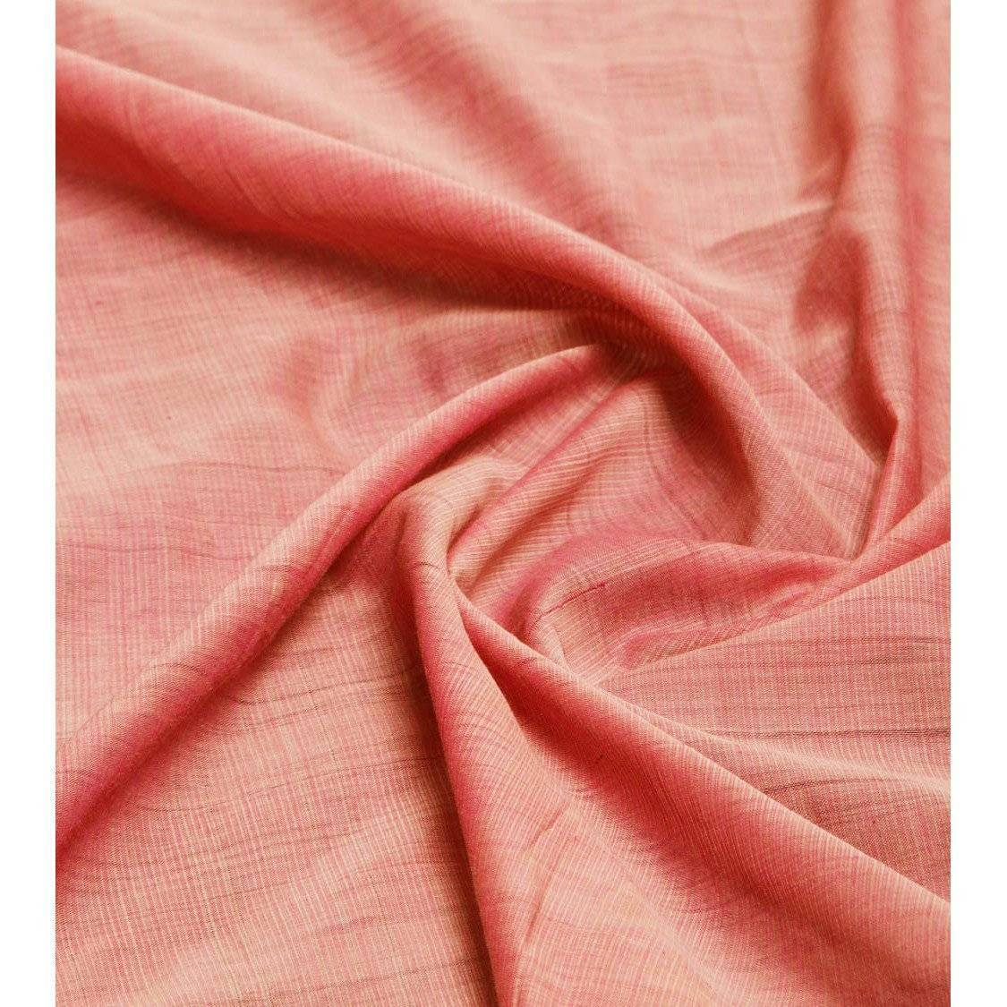 Dark Pink Mangalgiri Cotton Saree - rangoutlet.com