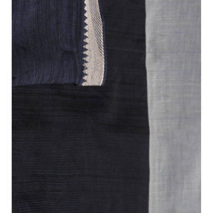 Grey & Black Mangalgiri Cotton Saree - rangoutlet.com