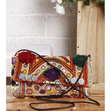 Multicoloured Embroidered Afghani Clutch - rangoutlet.com