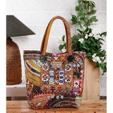 Multicolored Embroidered Afghani HandBag - rang