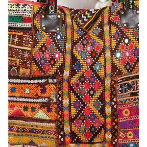 Multicoloured Embroidered - Afghani HandBag - rangoutlet.com