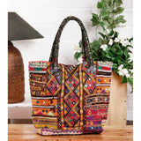 Multicoloured Embroidered - Afghani HandBag - rang
