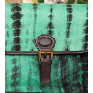 Green & Black Tie Dyed Suede Sling Bag (100000052935) - rangoutlet.com