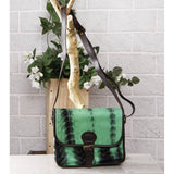 Green & Black Tie Dyed Suede Sling Bag (100000052937) - rangoutlet.com