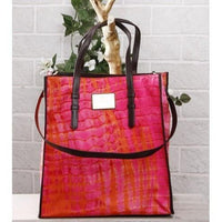 Orange & Pink Tie Dyed Cotton Tote Bag - rang