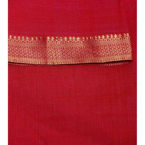 Blue Handloom Cotton Saree (100000055386) - rangoutlet.com