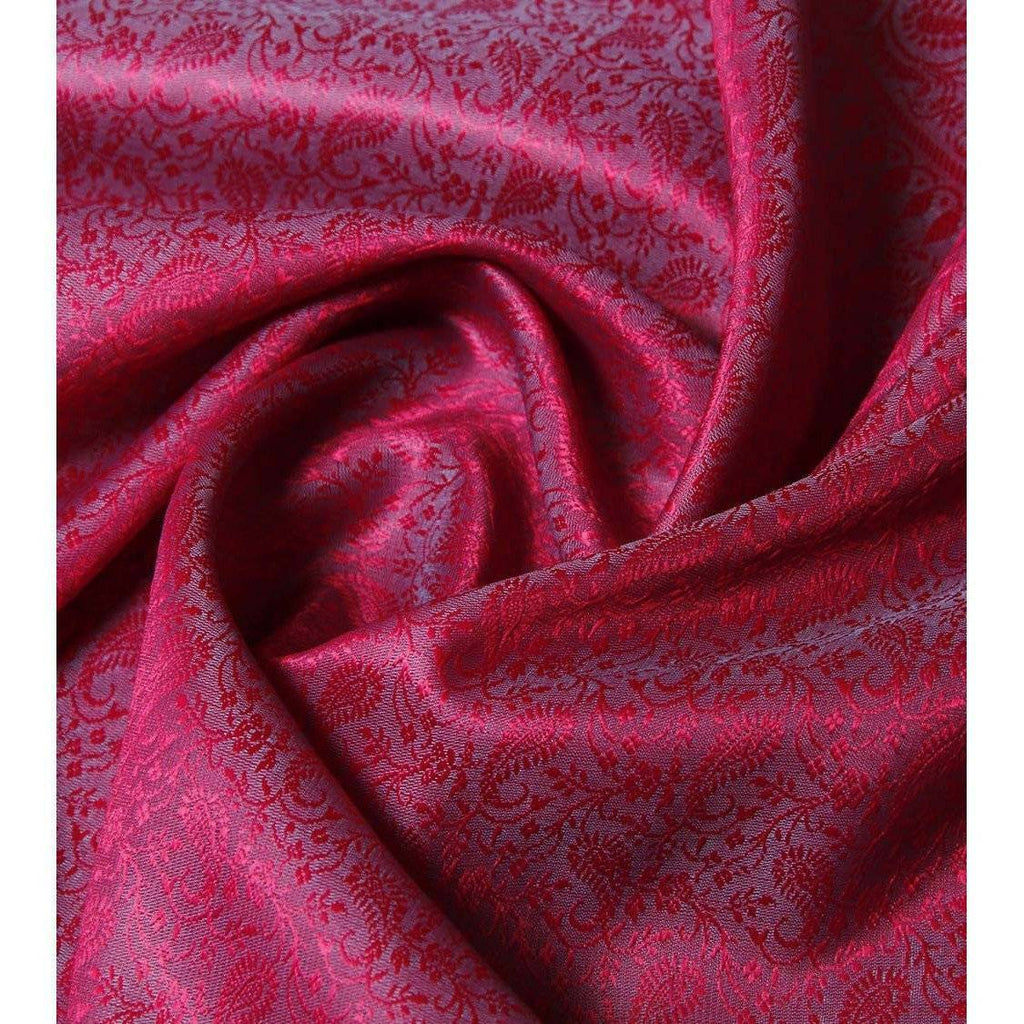 Pink & Blue Cotton Silk Stole - rangoutlet.com