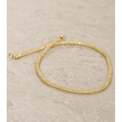 Golden Embellished Necklace - rangoutlet.com