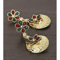 Golden Embellished Earrings (100000061623) - rang