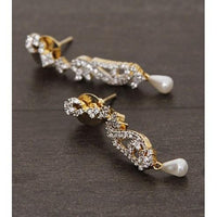 Golden and Silver Embellished Earrings (100000061534) - rangoutlet.com