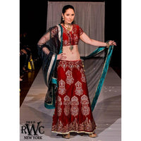Ram Chand Punam Chand (RCPC) - MADHURI DIXIT IN RED BOLLYWOOD DESIGNER LEHENGA CHOLI