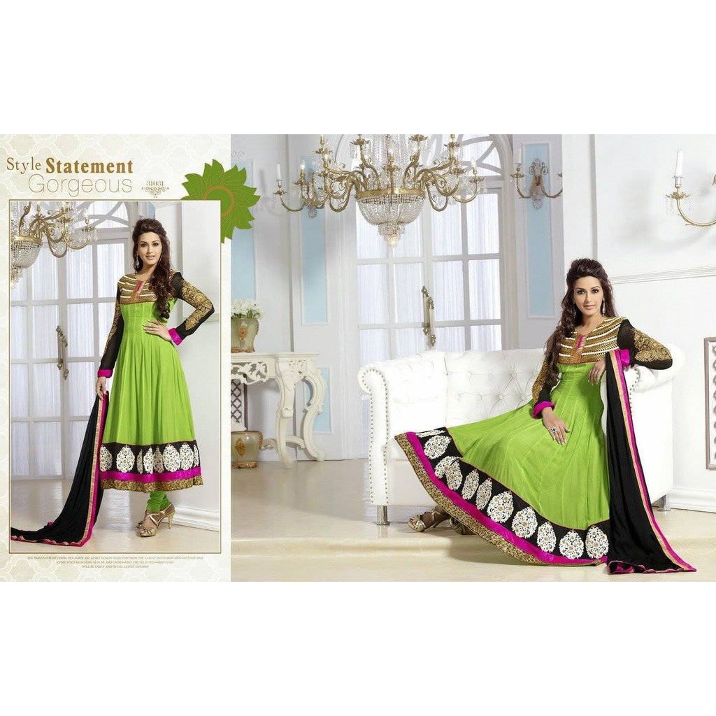 Green Colored Classic Designer Party Wear Salwar Suit - 31031 - rangoutlet.com