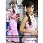 Ram Chand Punam Chand (RCPC) BOLLYWOOD PRIYANKA PINK ROSE DESIGNER SAREE - Online Shopping for Net Sarees