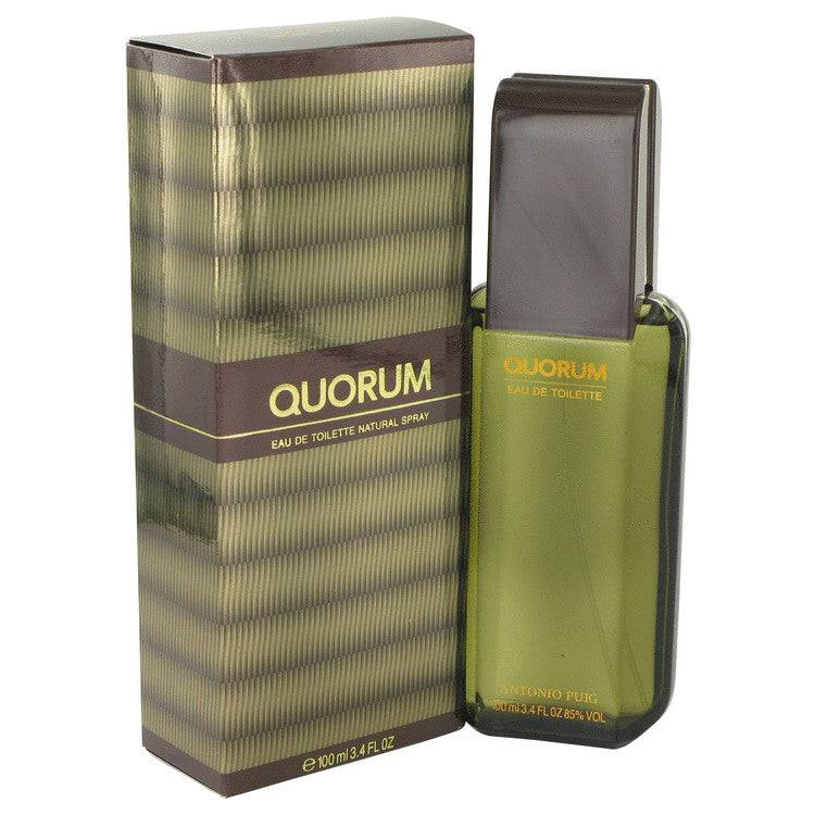 QUORUM by Antonio Puig Eau De Toilette Spray 3.4 oz for Men - rangoutlet.com