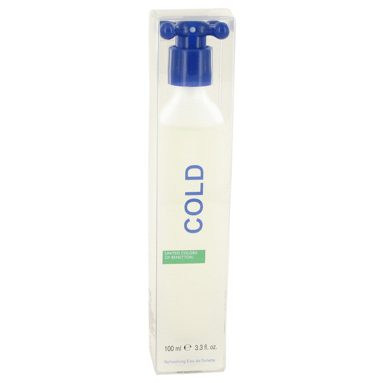 COLD by Benetton Eau De Toilette Spray (Unisex) 3.4 oz for Men - rangoutlet.com