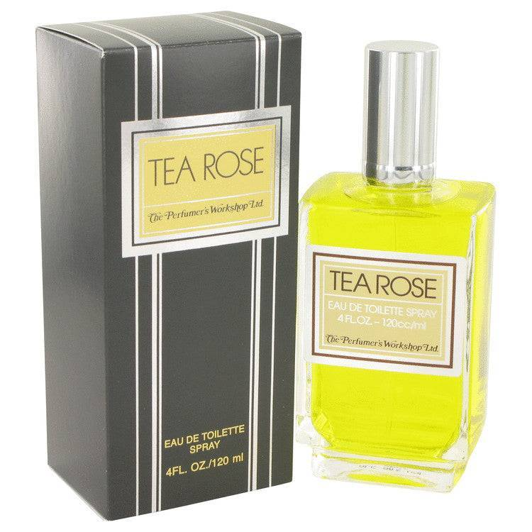TEA ROSE by Perfumers Workshop Eau De Toilette Spray 4 oz for Women - rangoutlet.com
