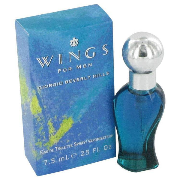 WINGS by Giorgio Beverly Hills Mini EDT Spray .25 oz for Men