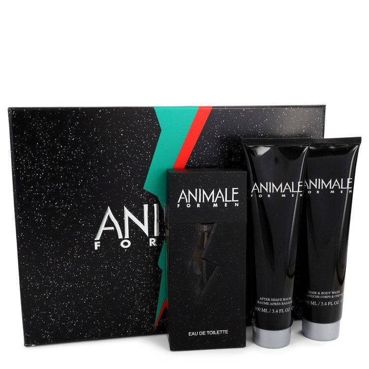 ANIMALE by Animale Gift Set -- 3.3 oz Eau De Toilette Spray + 3.4 oz After Shave Balm + 3.4 oz Body Wash for Men - rangoutlet.com