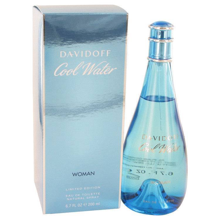 COOL WATER by Davidoff Eau De Toilette Spray 6.7 oz for Women - rangoutlet.com