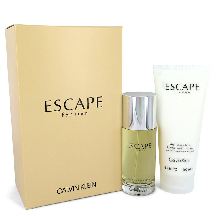 ESCAPE by Calvin Klein Gift Set -- 3.4 oz Eau De Toilette Spray + 6.7 oz After Shave Balm for Men - rangoutlet.com
