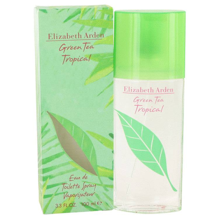 Green Tea Tropical by Elizabeth Arden Eau De Toilette Spray 3.3 oz for Women - rangoutlet.com