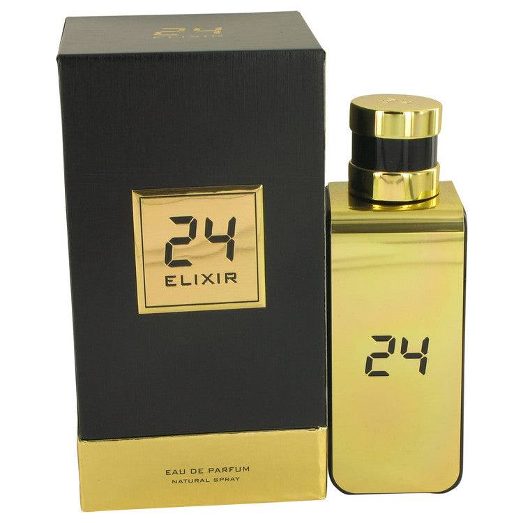 24 Gold Elixir by ScentStory Eau De Parfum Spray 3.4 oz for Men - rangoutlet.com