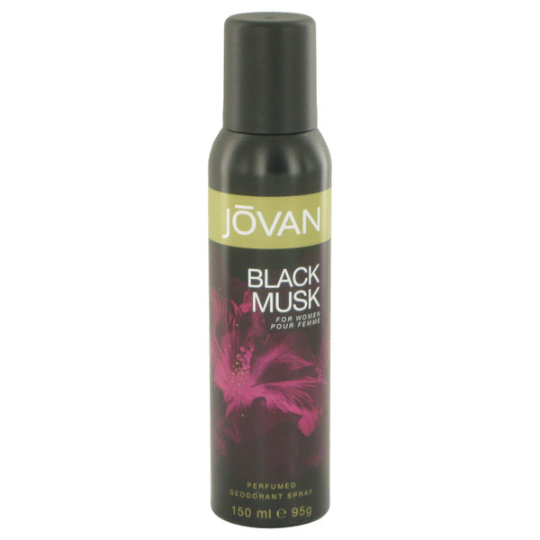 Jovan Black Musk by Jovan Deodorant Spray 5 oz for Women - rangoutlet.com