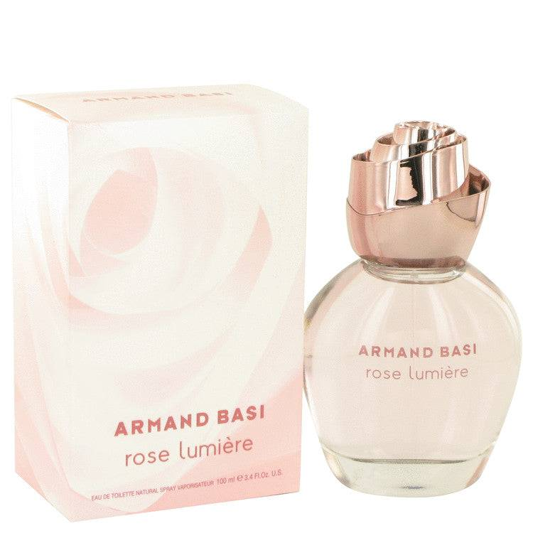 Armand Basi Rose Lumiere by Armand Basi Eau De Toilette Spray 3.3 oz for Women