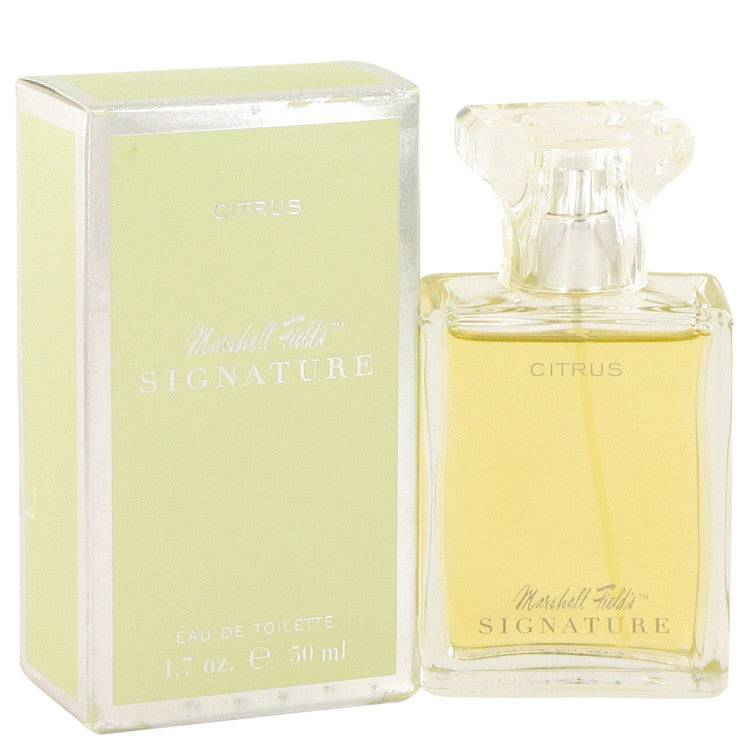 Marshall Fields Signature Citrus by Marshall Fields Eau De Toilette Spray (Scratched box) 3.4 oz for Women - rangoutlet.com