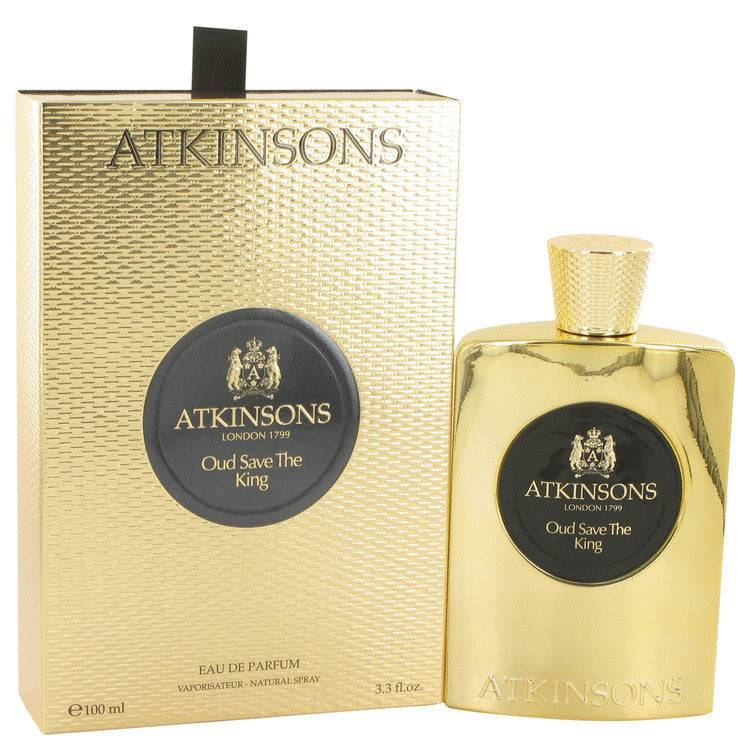 Oud Save The King by Atkinsons Eau De Parfum Spray 3.3 oz for Men - rangoutlet.com