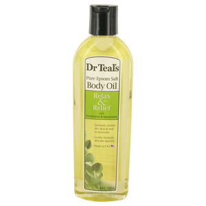 Dr Teal's Bath Additive Eucalyptus Oil by Dr Teal's Pure Epson Salt Body Oil Relax & Relief with Eucalyptus & Spearmint 8.8 oz for Women