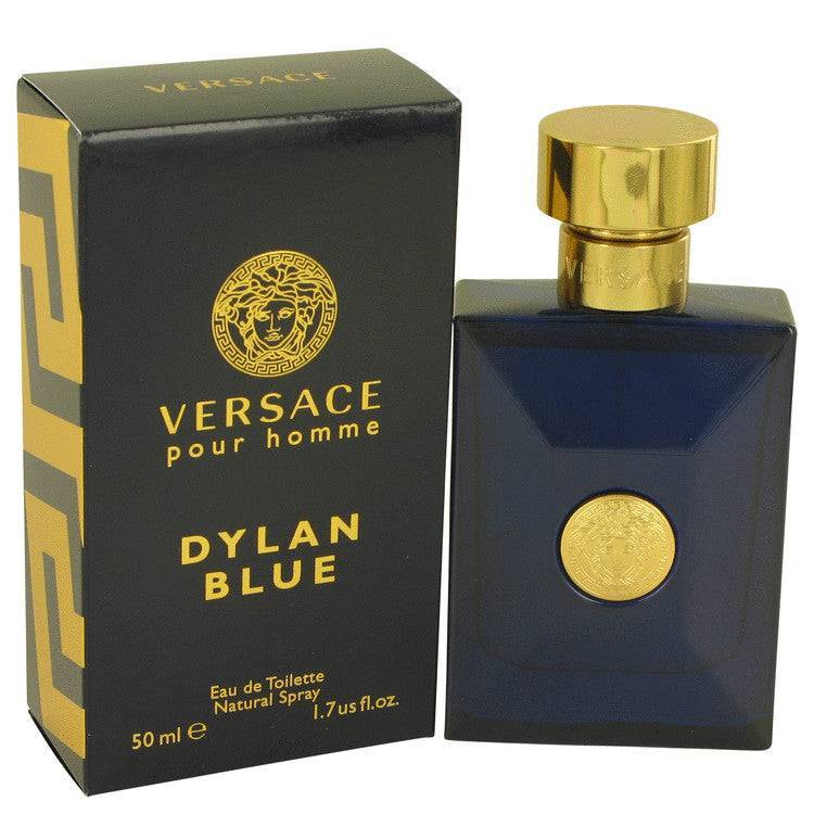 Versace Pour Homme Dylan Blue by Versace Eau De Toilette Spray 1.7 oz for Men - rangoutlet.com