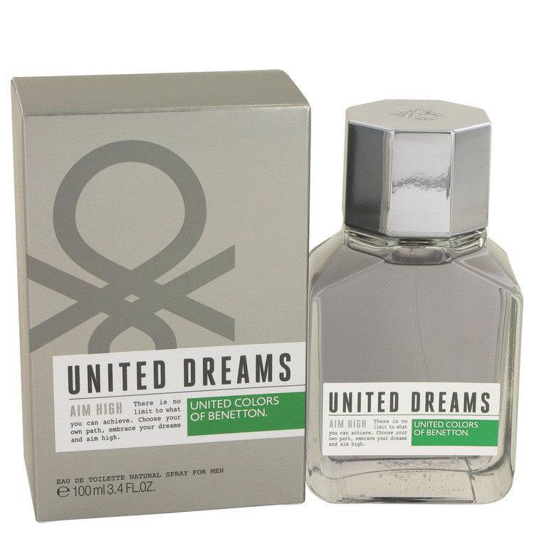 United Dreams Aim High by Benetton Eau De Toilette Spray 3.4 oz for Men