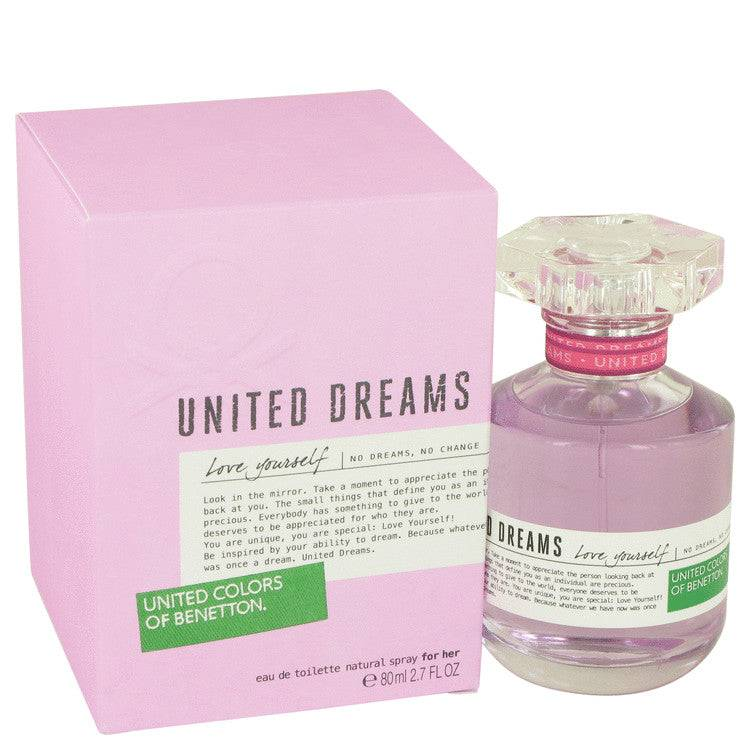 United Dreams Love Yourself by Benetton Eau De Toilette Spray 2.7 oz for Women