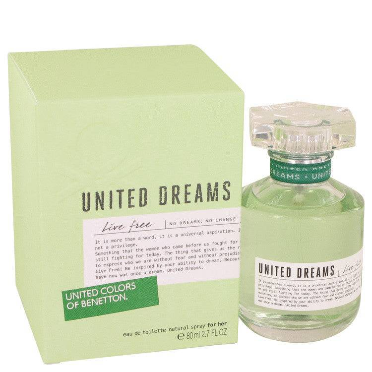 United Dreams Live Free by Benetton Eau De Toilette Spray 2.7 oz for Women