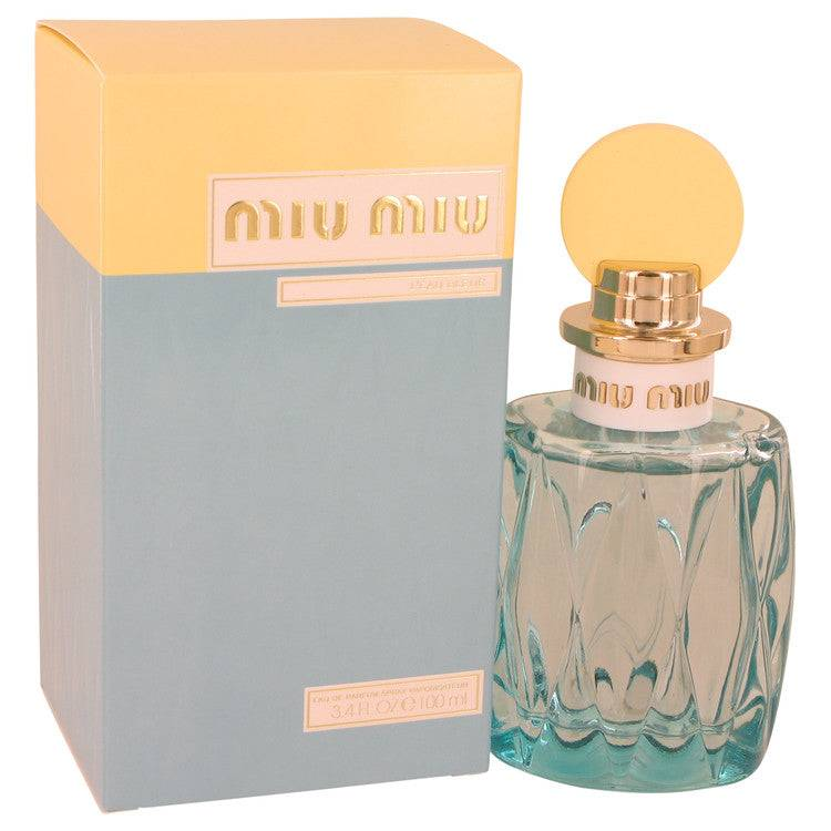 Miu Miu L'eau Bleue by Miu Miu Eau De Parfum Spray 3.4 oz for Women - rangoutlet.com