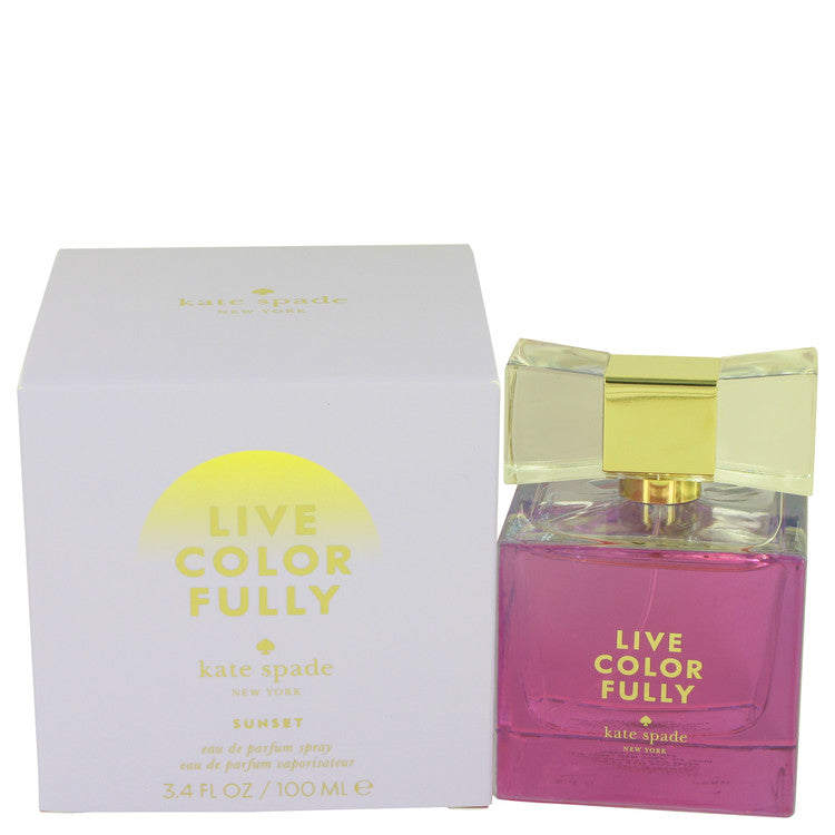 Live Colorfully Sunset by Kate Spade Eau De Parfum Spray 3.4 oz for Women