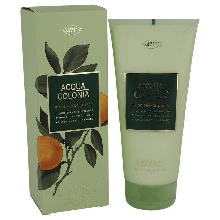 4711 Acqua Colonia Blood Orange & Basil by Maurer & Wirtz Body Lotion 6.8 oz for Women - rangoutlet.com
