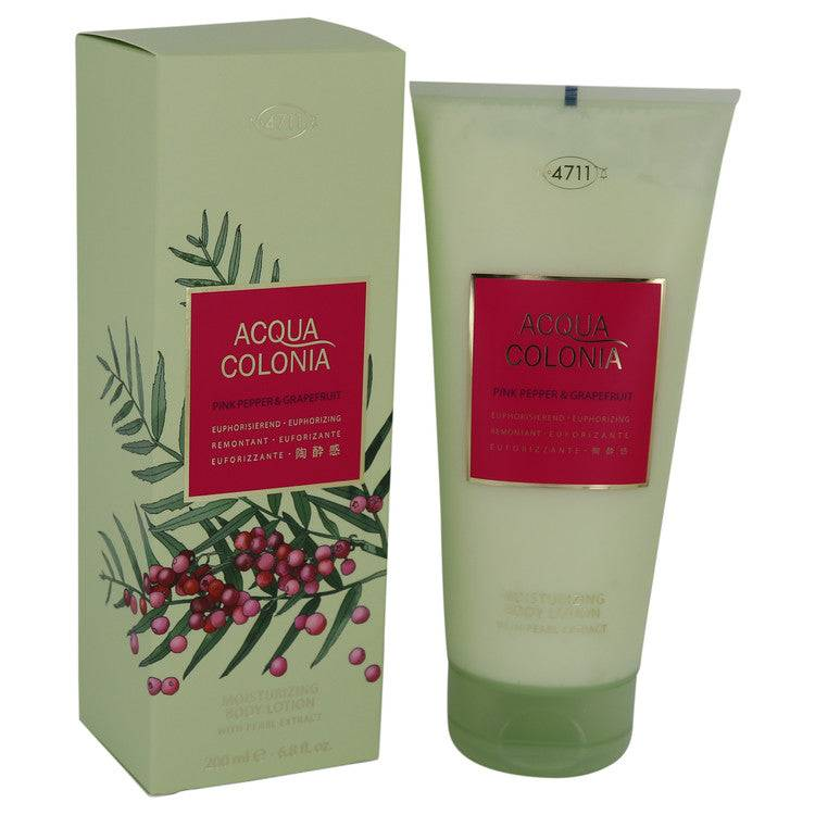 4711 Acqua Colonia Pink Pepper & Grapefruit by Maurer & Wirtz Body Lotion 6.8 oz for Women - rangoutlet.com